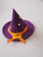 Cappello da Strega in feltro.Decorazione di .HALLOWEEN.Nastro,perle,fibbia.Ricamato a mano.Vari colori.Gioco,segnaposto.Festa di autunno