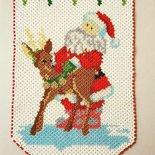 Bandierina/Fuoriporta Babbo Natale e renna