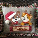 NATALE - cuscino cane e gatto auguri