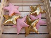 stelle banner, decorazione stella dorata, decorazione murale vivaio