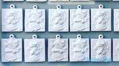 Quadretto Angioletti in polvere di ceramica