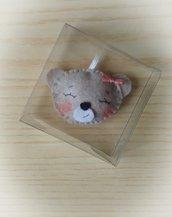 Bomboniera bimba orsetto in feltro confettata nascita battesimo