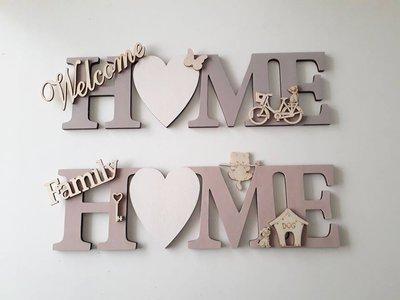 Targa in legno scritta home per la casa e per te for Scritta home in legno