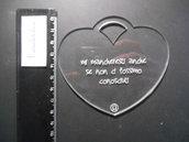 OUTLET - ciondolo cuore trasparente con scritta