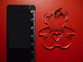 OUTLET - ciondolo orsacchiotto plexiglass trasparente