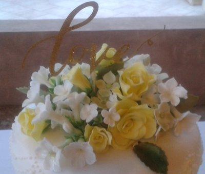 Bouquet di fiori in pasta di zucchero