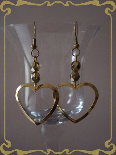 orecchini golden hearts
