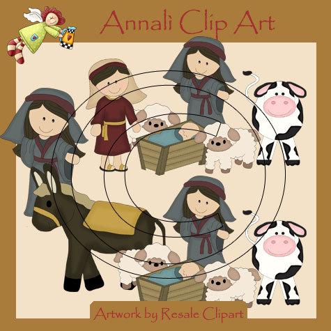Clip Art per Scrapbooking e Decoupage - Presepio Natale - IMMAGINI