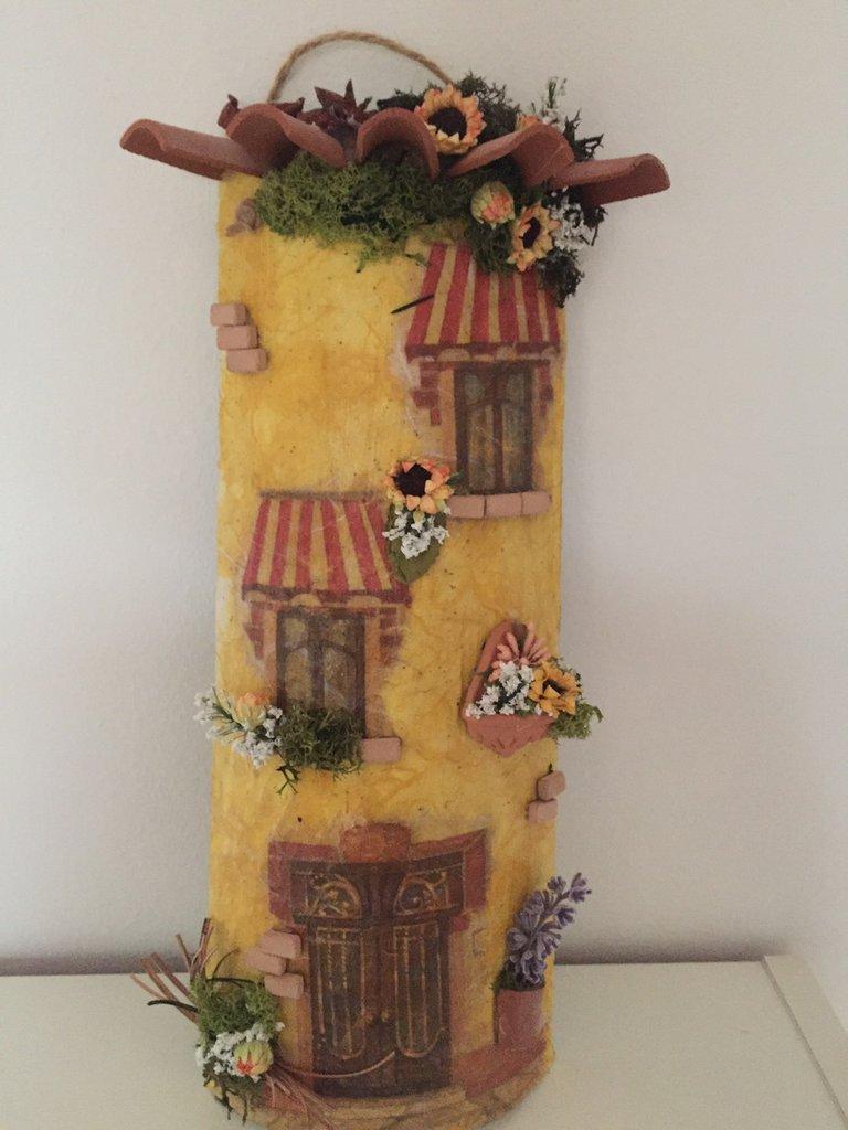 tegola decorata da appendere per la casa e per te ForOggetti Da Appendere