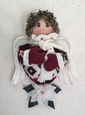 Natale - angelo della montagna da appendere come fuori porta o addobbo natalizio