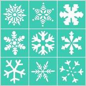 Stencil autoadesivo Fiocchi di neve