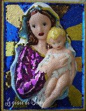 Quadro Madonna con bambino