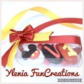 Confetti decorati con pasta di zucchero - Tema Topolino