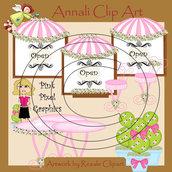 Clip Art per Banner, Scrapbooking, Decoupage - Negozio Rosa - IMMAGINI