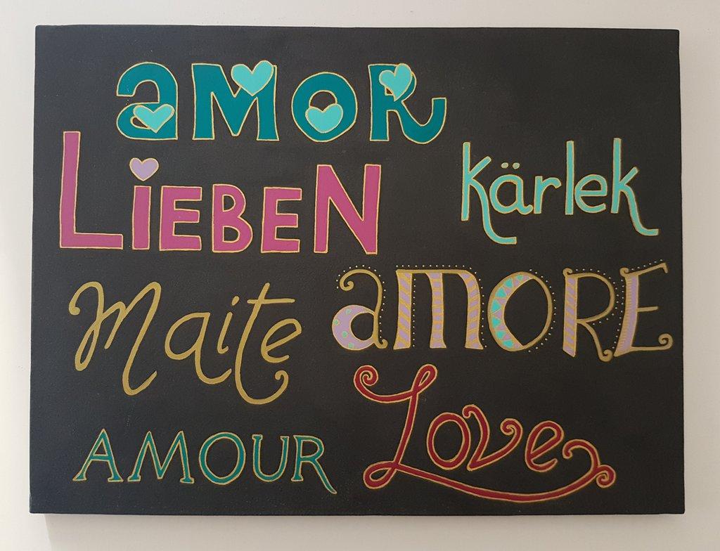 Amore in tutte le lingue - Quadro 40 x 30