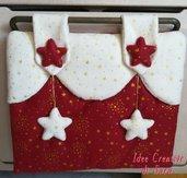 Copri forno Natale + 2 Presine