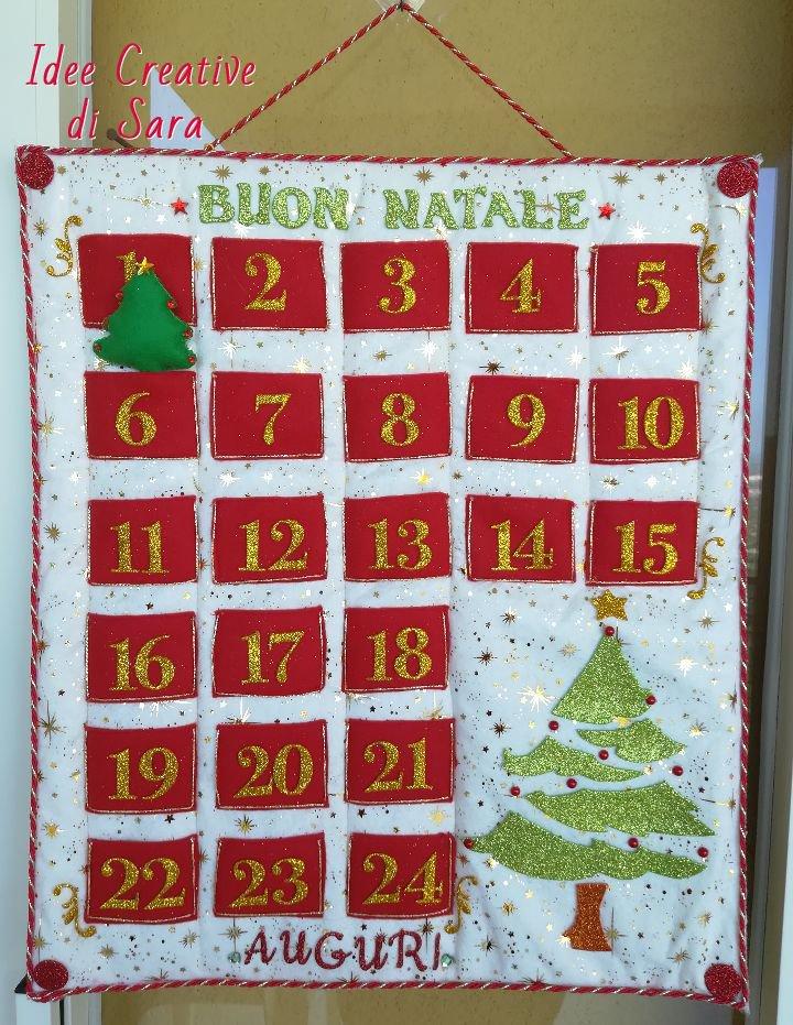 Idee Calendario.Calendario Dell Avvento Fatto A Mano