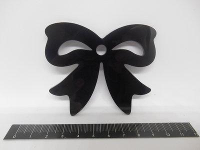 Outlet - ciondolo fiocco in plexiglass nero