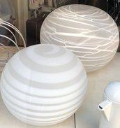 Lampada in vetro di Murano, color bianco latte , ideale per soluzioni d'arredo e ricambi per lampadari, specchi , plafoniere e applique
