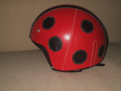 casco omologato rivestito in pelle