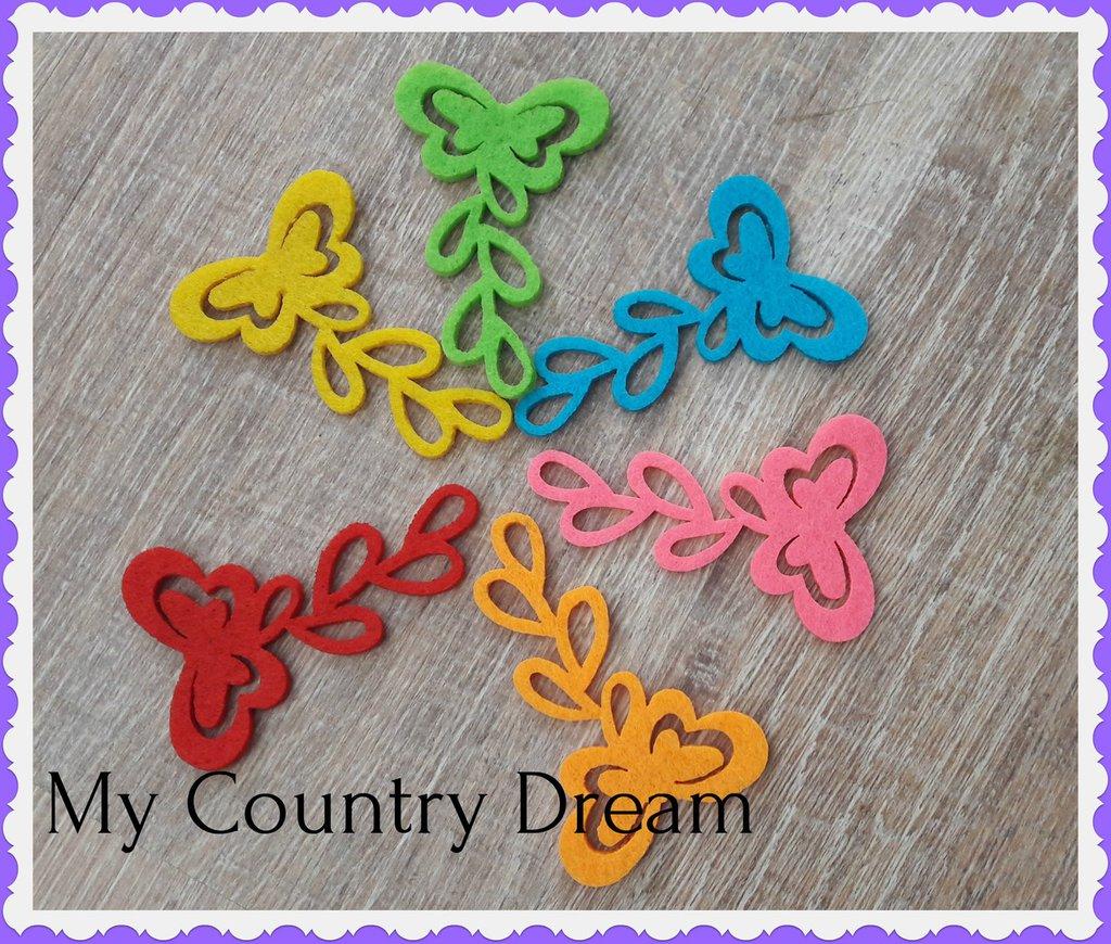 Set farfalle feltro