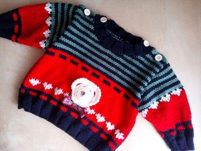 comprare prezzo ragionevole nuova versione maglione ai ferri fatto a mano per neonato rosso blu verde - maglioncino  golf bambino
