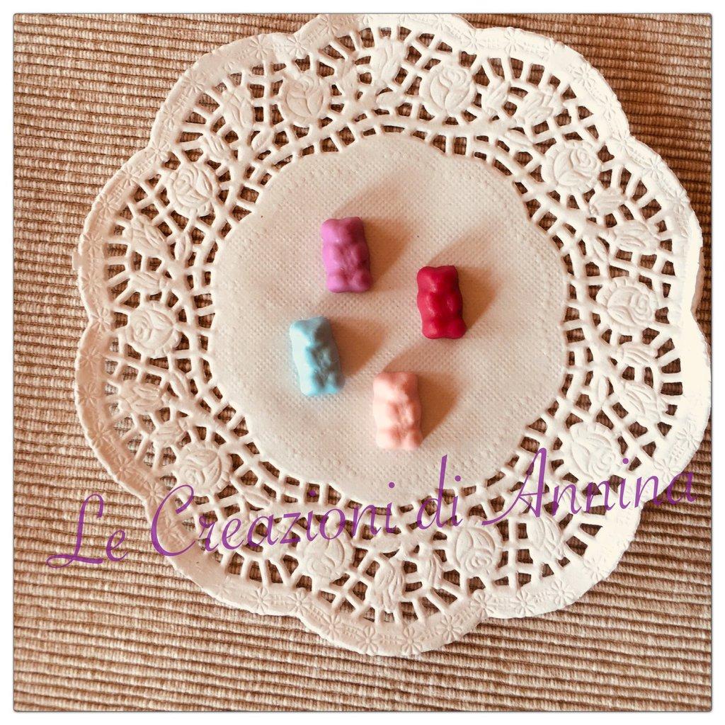 Miniatura caramella orsetto in pasta di mais - lotto da 4 pz