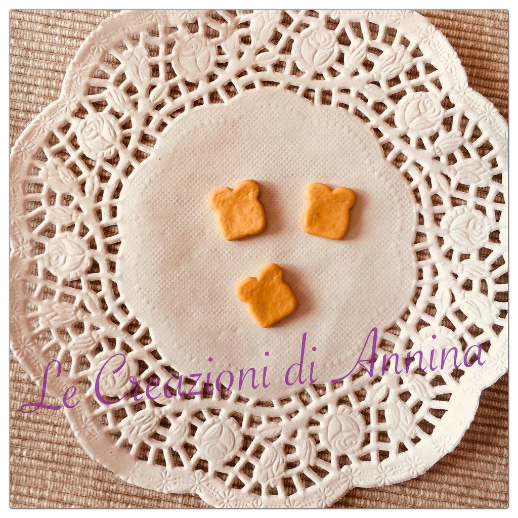 Miniatura fetta di toast realizzata in pasta di mais - lotto 10 pz