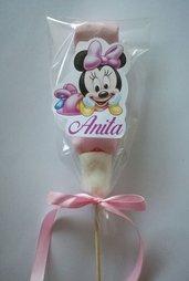 Lecca lecca spiedino marshmallow dolci caramelle compleanno minnie festa