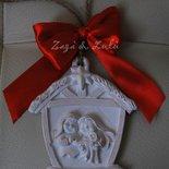 Decori Natalizi Addobbi Albero di Natale Presepe in Gessetto Appendini Ornamento