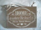 Targa fuoriporta in legno-decorazione Casa dolce casa