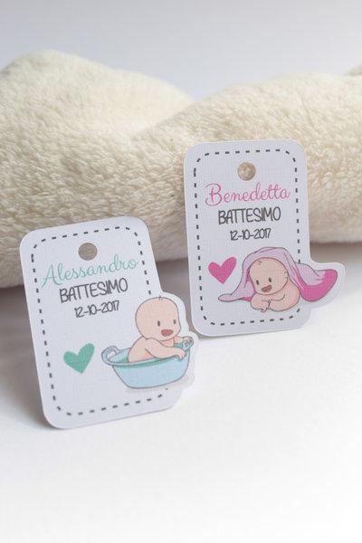 tags etichette bigliettini bomboniere sagomati grafica particolare ideata da epouse moi bimbi e bagnetto bimbi dopo il bagnetto bagnetto bimbi