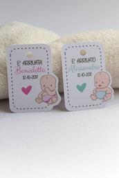 tags etichette bigliettini bomboniere sagomati grafica particolare ideata da epouse moi bimbo neonato bimbi teneri