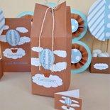 Bomboniera scatolina portaconfetti tema mongolfiera per battesimo nascita compleanno comunione cresima
