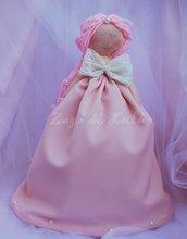 Bambola di Pezza Fatta a mano Principessa in Stoffa Favole Peluche Handmade