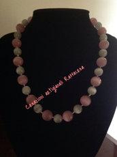 Collana semplice rosa grigio