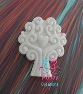 Gessetti colore bianco profumati a forma di ALBERO DELLA VITA per bomboniera Cresima, Battesimo, Comunione, Matrimonio, Natale - Idea Regalo