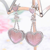 orecchini pendenti cuore