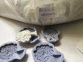 Stampi albero della vita+polvere di ceramica:kit creativo