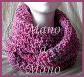 Scaldacollo - rosa viola melange