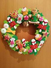 Ghianda natalizia in feltro
