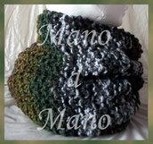 Scaldacollo - Verde marrone bianco nero