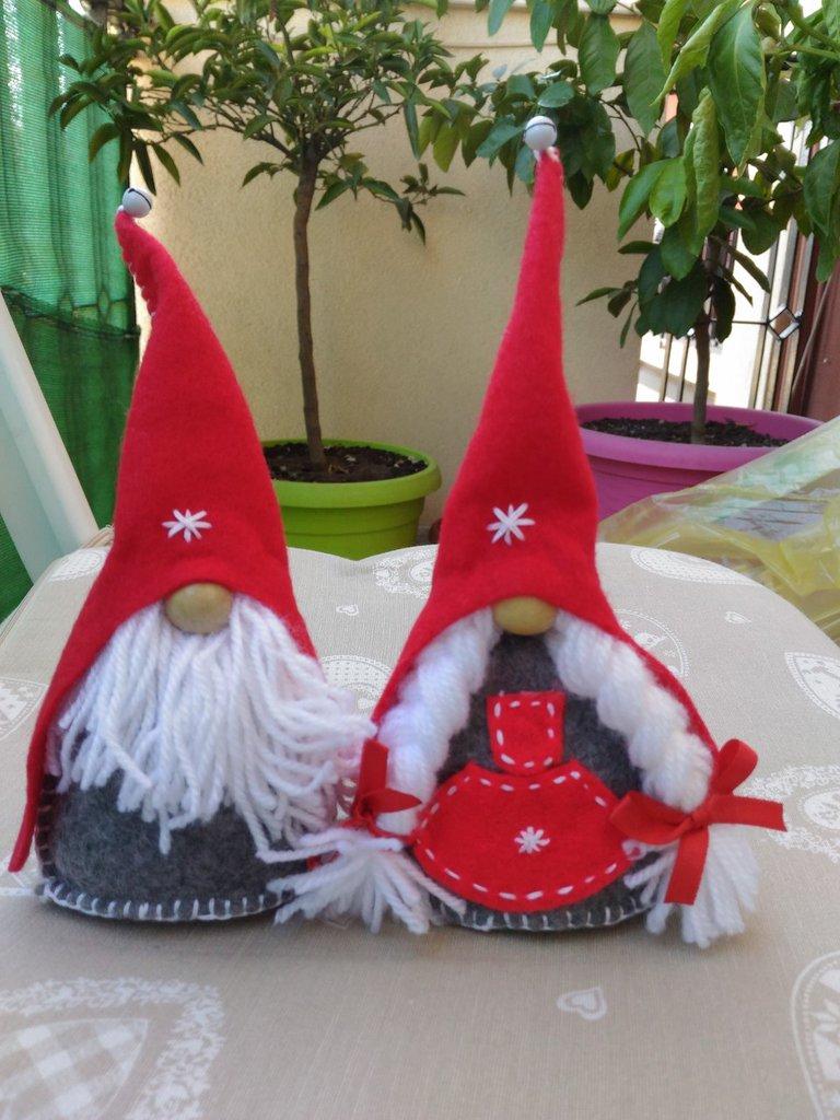 Segnaposto Natalizi Lana.Segnaposto Natale Gnomi Rosso Feste Natale Di Shop Creativo