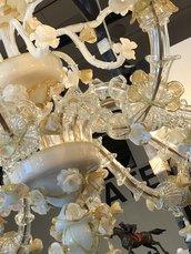 Fiori, in vetro soffiato di Murano, ricambi per lampadari di Venini e specchi Veneziani