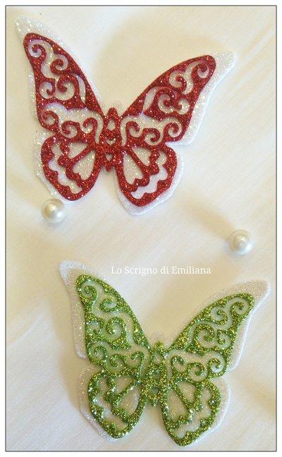 Farfalle gomma crepla decorazioni