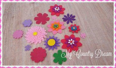 Set fiori fustellati mix rosa