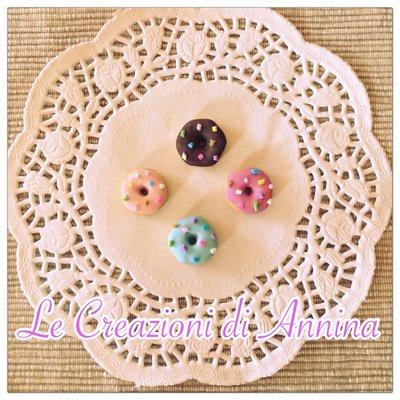 Ciambella donuts  con zuccherini realizzata in pasta di mais