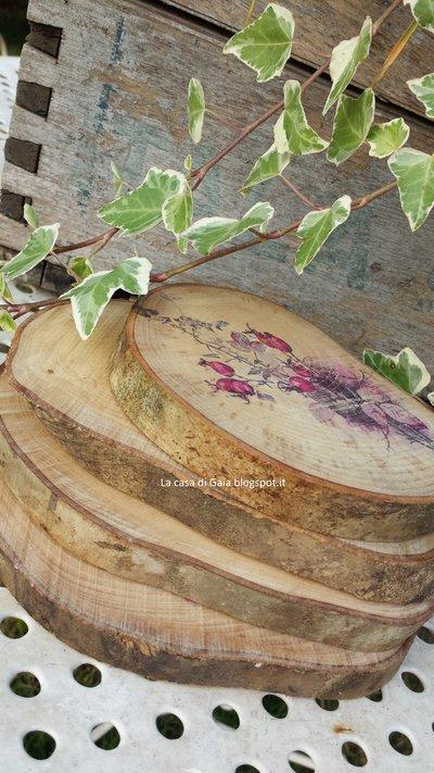 Tagliere o sottopentola in legno decorato con stampa for Gaia case in legno