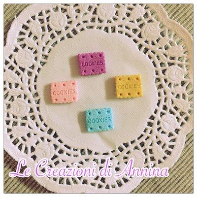 Biscotti cookies rettangolari colori misti