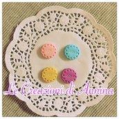 Biscotti cookies rotondi colori misti - realizzati in pasta di mais